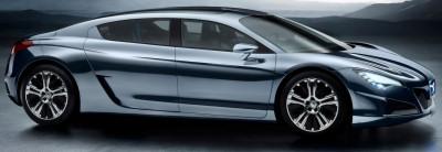 Au Mondial de l'Automobile de Paris 2008, Peugeot a présenté ce concept-car Peugeot RC HYmotion4 Concept, l'occasion pour la marque au lion de prendre pied sur le segment des coupés 4 portes et de présenter sa technologie hybride maison, dénommée 'HYmotion' (HYmotion4 désignant des véhicules 4 roues motrices).